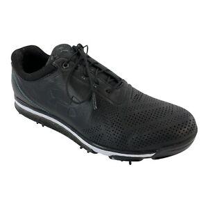 Under Armour UA Tempo Tour Mens Golf Shoes Soft Spikes Black 1270205-011 Size 10