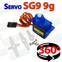 Servo Mini SG90 9G Micro 360 motor paso a paso giro continuo Arduino Electronica