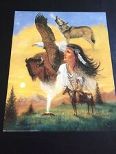 "Maiden Native American Collage 16 x 20"" Picture Print in Lithograph"
