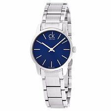 Calvin Klein Women's City Blue Dial Stainless Steel Swiss Quartz Watch K2G2314N