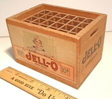 Vintage Miniature JELLO JELL-O Toy Partitioned Wooden Case Box Ad Premium