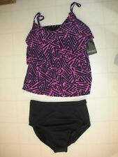MAGICSUIT by Miraclesuit Orchid Tiki Chloe 2-PC Tankini Swimsuit Sz 8 NWT