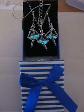 POUR OFFRIR :  Swarovski éléments  Parure Danseuse Turquoise Cristal