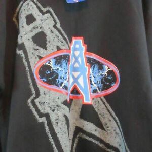 NWT Houston Oilers Vintage 90s Sweatshirt sz L Team NFL Zubaz Not a Reproduction