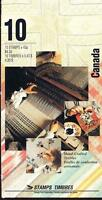 Canada 1993 Booklet #159b Hand-crafted Textiles with tab inscription