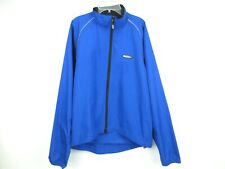 LOUIS GARNEAU Blue Running/Cycling Jacket Full Zip Waterproof Men's Medium