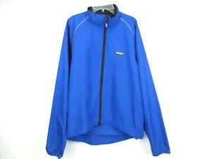 LOUIS GARNEAU Blue Running/Cycling Jacket Full Zip Waterproof Men's Medium
