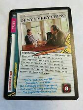 X-Files Deny Everything CCG Promo Card PR97-0999-DNY Ultra Rare L@ @K!!