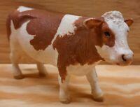 2015 Schleich Brown & White HEREFORD COW Steer Farm Animal Figure Figurine Toy