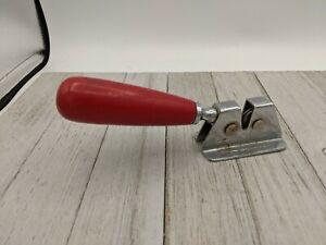 Vintage Challenge REG NO 813230 Made in England Red Wood Handle Knife Sharpener