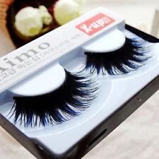 1 Pair Exaggeration black blue mixed artificial false eyelashes.fake eyelashes