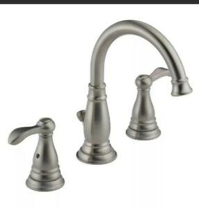 "Delta Porter 4"" Centerset 2-Handle Bathroom Faucet Brushed Nickel 25984LF-BN-ECO"