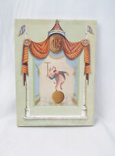 Vintage Circo Pink Pig Dancing on Ball Victoria Splendore-Signed Art Print