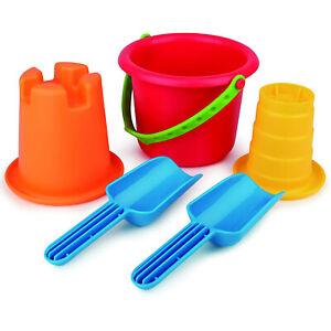 Hape Versatile 5-in-1 Children's Beach Set Sand Toys for Toddlers, Multicolor