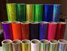 """Holographic Sequins Sign Vinyl 12"""" x 30 ft, Sparkle Glitter Twinkle Many Colors"""