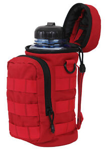 Red Molle Water Bottle Pouch Utility Tactical Use Rothco 2678