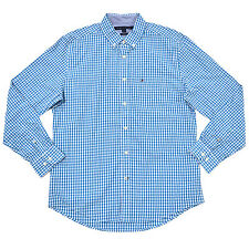 48a12eb2 Tommy Hilfiger Mens Buttondown Shirt Classic Fit Gingham Long Sleeve Casual  Regular 2xl Light Blue