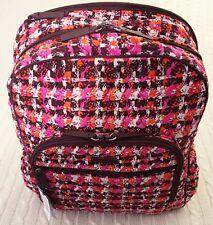 Vera Bradley Campus Tech Backpack Houndstooth Tweed College School Travel NWT