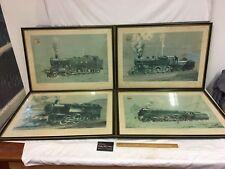 Vintage D.G Mackay STEAM ENGINE Colour Prints - (set of 4 framed)
