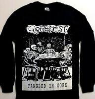 GOREFEST Long Sleeve T shirt Death Metal Mortician PESTILENCE AUTOPSY CARCASS