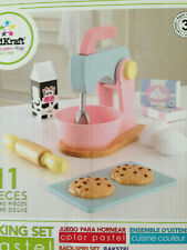 Kidkraft Baking Set Wooden Pastel Set Pretend Play Kitchen 11 pieces Toy NIB