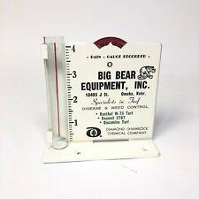 Vintage Advertising Rain Gauge - Big Bear Equip. Omaha, NE - Near Mint Condition