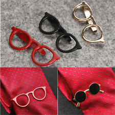 Vintage Glasses Shape Tie Clip Bar Necktie Pin Clamp Mens Accessories Party Gift
