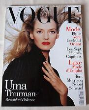 Vogue Paris ~ #751 November 1994 ~ Uma Thurman Mario Testino