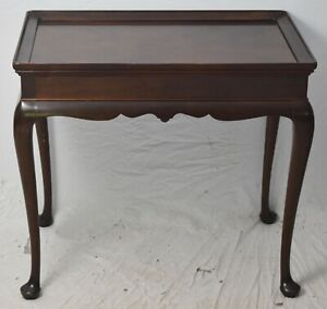Stickley Williamsburg Style Mahogany Queen Anne Tea Table