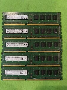 LOT OF 5 MICRON 4GB 1Rx8 PC3L-12800U MT8KTF51264AZ-1G6E1