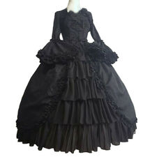 Women Halloween Vintage Gothic Dress Square Collar Patchwork Bow Gown Dresses