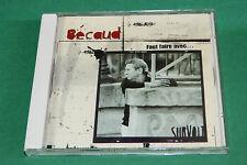 """CD GILBERT BÉCAUD """"FAUT FAIRE AVEC..."""" 12 TITRES / EMI 1999, TB ÉTAT"""