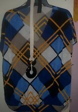woman's tops shirts blouse tee worthington nwt necklace xl 54 bust stretchy
