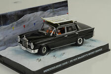 MERCEDES-BENZ 220s w111 Black James Bond Movie Majestys secret service 1:43 IXO