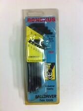 Bondhus Wrench Hex Tools Balldriver Key Set 10 Pieces 1/16-1/4 Inch Made in USA