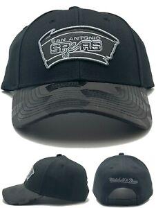 San Antonio Spurs New Mitchell & Ness Repeater Black Gray Era Snapback Hat Cap