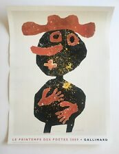 Jean Dubuffet Nez de Carotte original poster