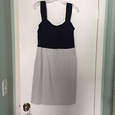 ABG Dress Navy Top Gray And White Skirt  Size 12