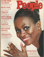 CICELY TYSON Zero Mostel REDD FOX Peggy Lee PATTY HEARST 1974 People magazine