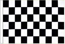 Black And White Check 5' x 3' Large Sleeved Flag