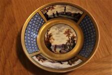 Antique Dresden Helena Wolfsohn Small Dish Beautiful Handpainted Piece 1880