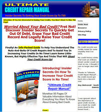 Ultimate Credit Repair Manual Website For Sale w/ Sales Page & Resell Rights.