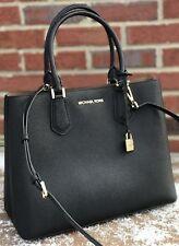 NWT Michael Kors  Black  Leather Large Satchel Handbag Purse Shoulder Bag
