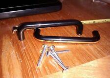 2x Black & Gold plastic D handle - door handle Cupboards/Cabinets 105mm