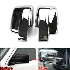 2x Chrome Rear View Door Side Mirror Cover Trim Molding ABS For Patriot Liberty