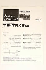 Pioneer TS-TRX5 CAR STEREO SPEAKER ORIGINAL SERVICE MANUAL/WIRING DIAGRAM! o66