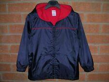 GYMBOREE Boys Blue Red Jacket Hooded School Rain Coat Anorak Age 4-5 110cm