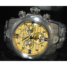 Invicta Mens Rare Venom Swiss Reserve Chrono Gold Dial Steel Watch 90137