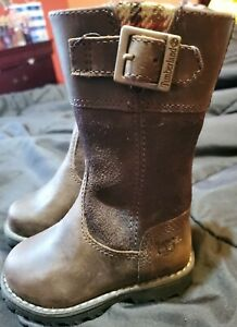 Toddler Girls Brown Suede Leather Timberland Earthkeepers Boots Size 4.5