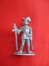 JEM Figurine moyen age 1/32 soldat sentinelle armure et épée Norev Non peint